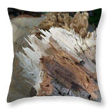 Tree Stump Throw Pillow