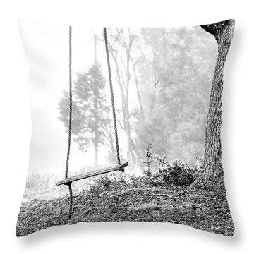 Tree Swing Throw Pillow