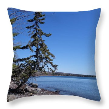 Throw Pillow featuring the photograph Tree That Weathers Superior Storms by Sandra Updyke