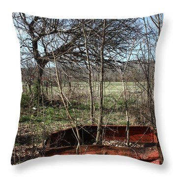 Tree The Usa  In A Chevrolet Throw Pillow