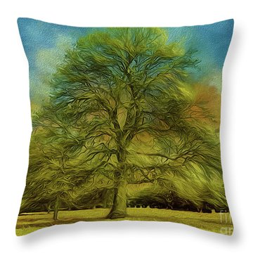 Tree Three Throw Pillow