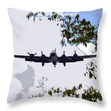 Tree Top Fly Er Throw Pillow by David Lee Thompson