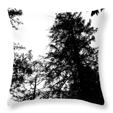 Tree Tops In Monotone Throw Pillow
