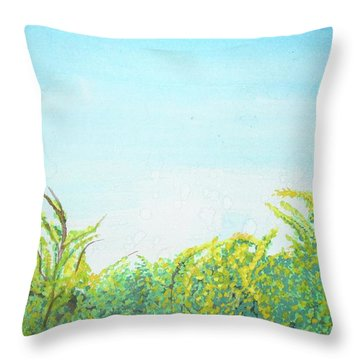 Throw Pillow featuring the painting Tree Tops by Mary Ellen Frazee