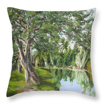 Tree Tops Park Throw Pillow