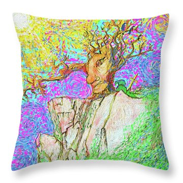 Tree Touches Sky Throw Pillow