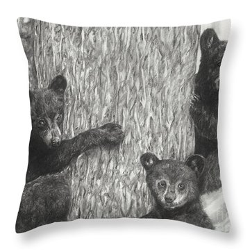 Tree Trio  Throw Pillow by Meagan  Visser