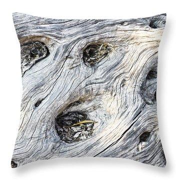 Tree Trunk Texture Throw Pillow