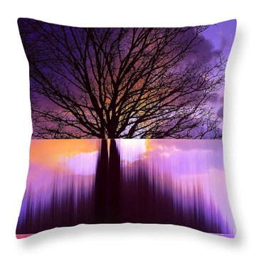 Tree Triptych Throw Pillow