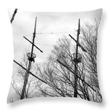 Throw Pillow featuring the photograph Tree Types by Valentino Visentini