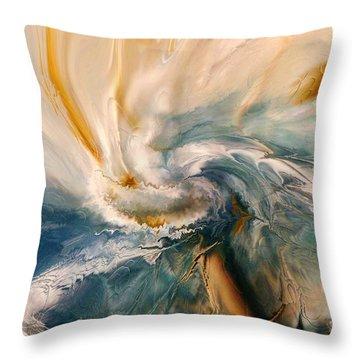 Throw Pillow featuring the digital art Tree Wind by Linda Sannuti