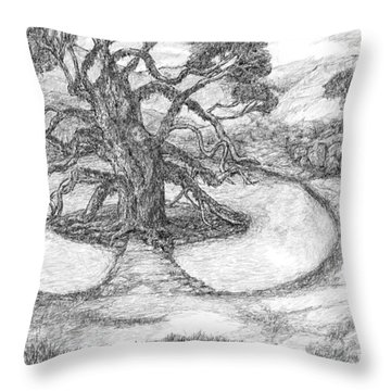 Tree Witch Is There Throw Pillow
