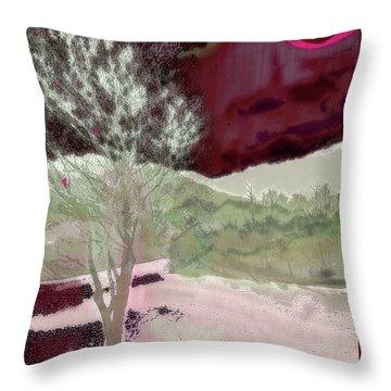 Tree Witness To Lake At Dawn Throw Pillow
