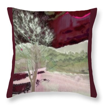 Tree Witness To Lake At Dawn Throw Pillow