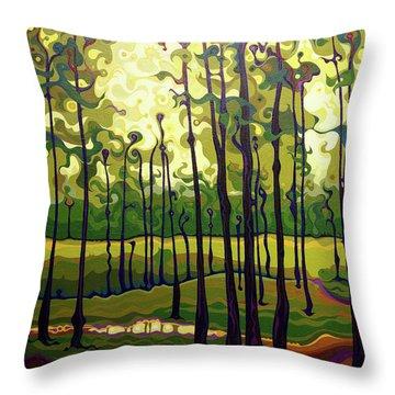 Treecentric Summer Glow Throw Pillow