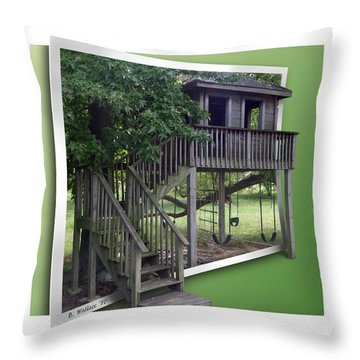 Treehouse Playground Throw Pillow by Brian Wallace