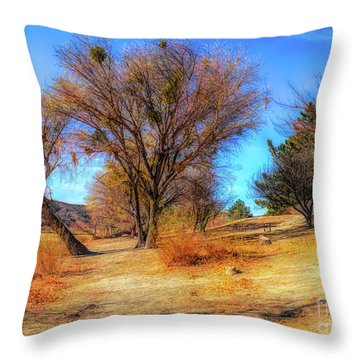 Trees Along Elizabeth Lake Throw Pillow
