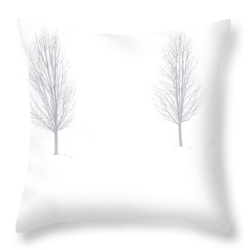 Throw Pillow featuring the photograph Trees And Snow by Daniel Thompson