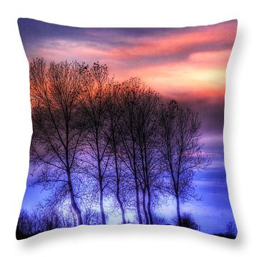 Trees And Twilight Throw Pillow