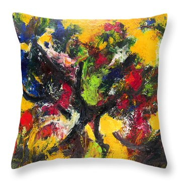 Trees At Sunset Throw Pillow by Ali Hammoud