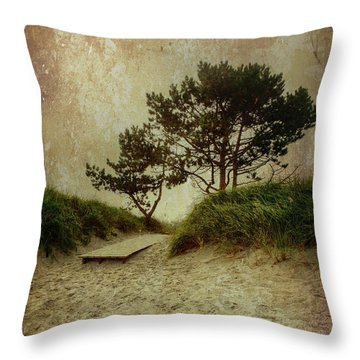 Trees By The Sea Throw Pillow
