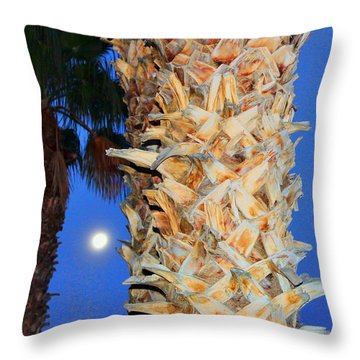 Trees Capture Sun Throw Pillow