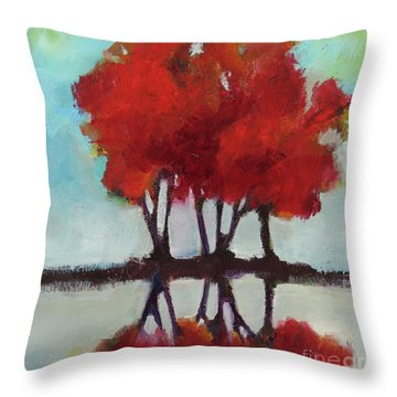 Trees For Alice Throw Pillow