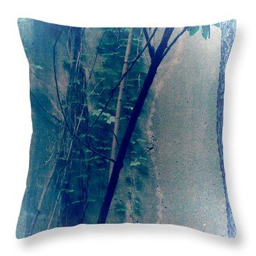 Trees Growing In Silo Abstract- Square 2015 Edition Throw Pillow by Tony Grider