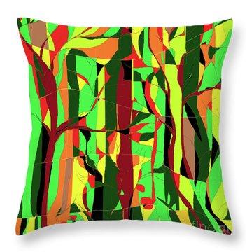 Trees In The Garden Throw Pillow