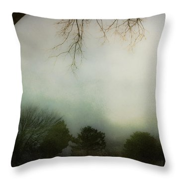 Trees In The Mist Throw Pillow by Jill Smith