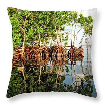 Trees In The Sea Throw Pillow