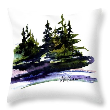 Trees Throw Pillow by Marti Green