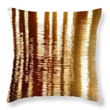 Trees On Rippled Water Throw Pillow