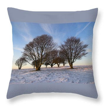 Trees On The Ring Throw Pillow by Hazy Apple