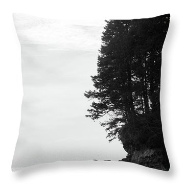 Trees Over The Ocean Throw Pillow