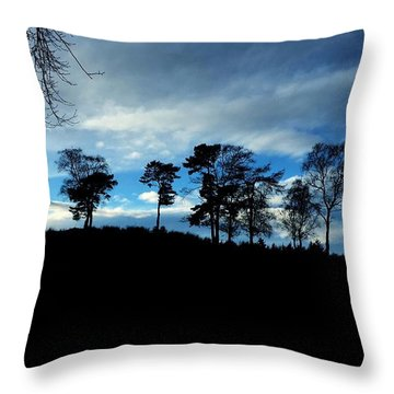 Trees Throw Pillow by RKAB Works