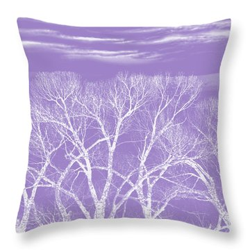 Throw Pillow featuring the photograph Trees Silhouette Purple by Jennie Marie Schell