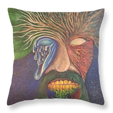 Trees Throw Pillow by Steve  Hester