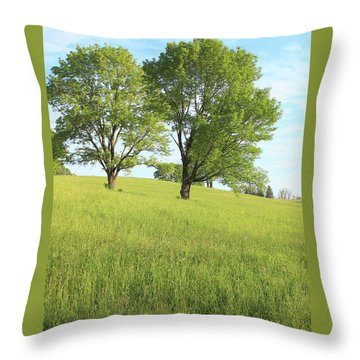 Summer Trees 2 Throw Pillow