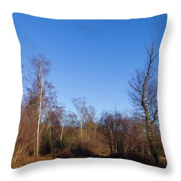 Trees With The Moon Throw Pillow