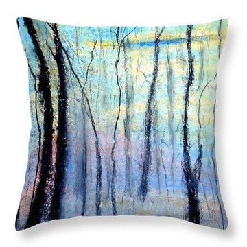 Treescape - Evening Throw Pillow