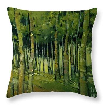 Treesong Summer Throw Pillow