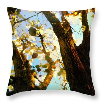 Treetop Abstract-look Up A Tree Throw Pillow
