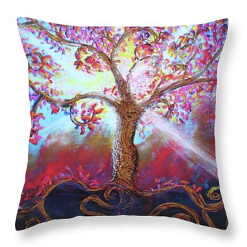 Treevelation Throw Pillow