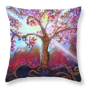 Treevelation Throw Pillow