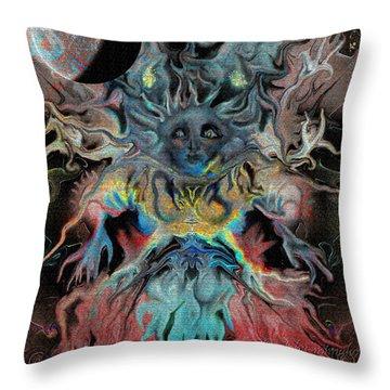 Treewoman Awakens Throw Pillow by Mimulux patricia no No