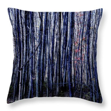 Treez Blue Throw Pillow
