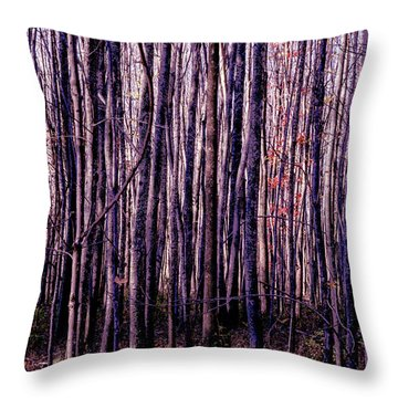 Treez Magenta Throw Pillow