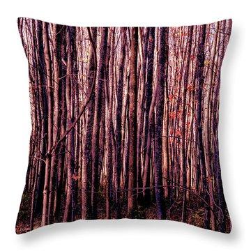 Treez Red Throw Pillow