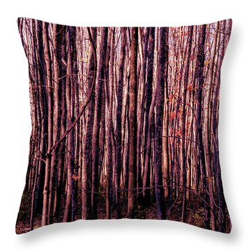Treez Red Throw Pillow